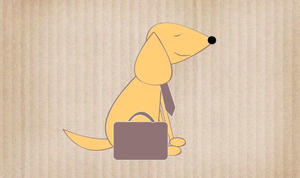 O cão de trabalho
