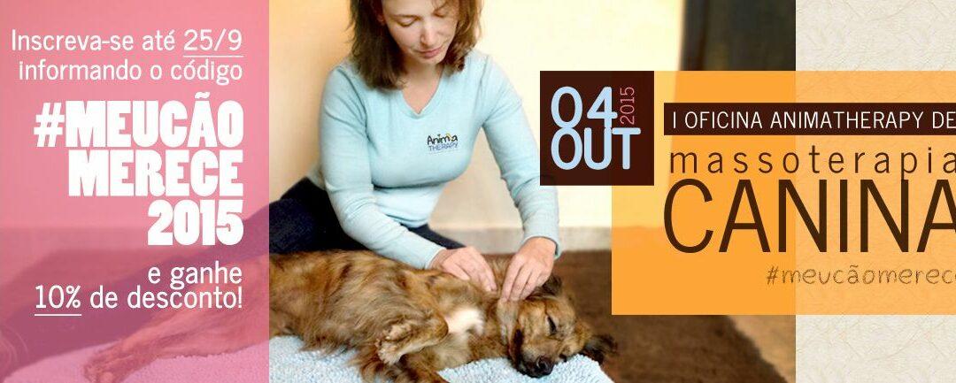 I Oficina de Massoterapia Canina – CÓDIGO PROMOCIONAL