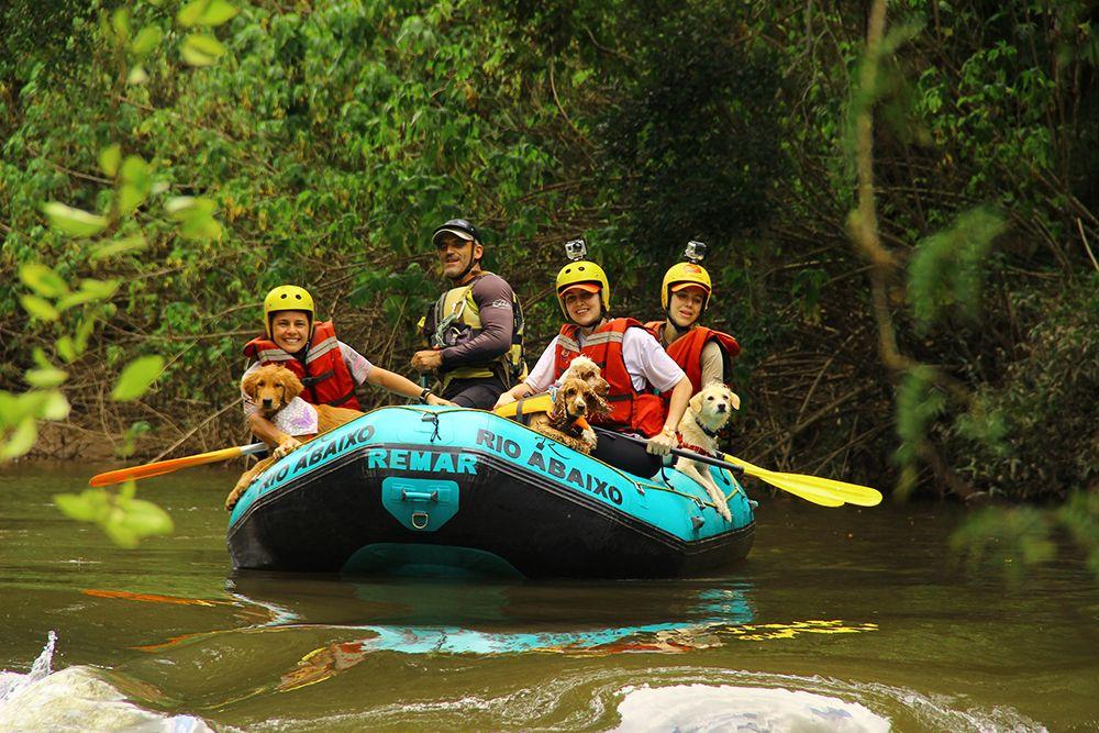 Rafting com cães da Turismo 4 Patas
