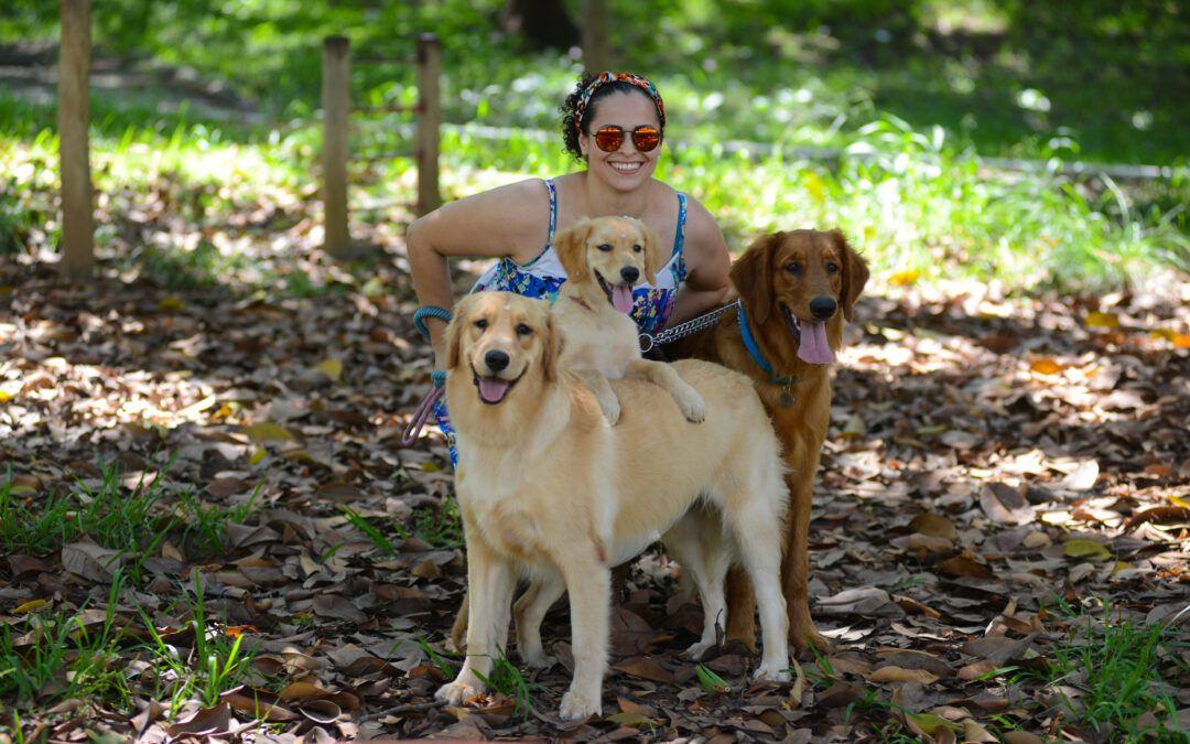 DEPOIMENTO | Vanessa Barros, tutora de 3 goldens